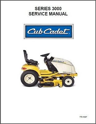 Cub Cadet  3165 3185 3186 3205 3225 Riding Lawn Garden Tractor Service Manual CD