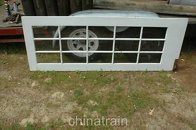 Antique Vintage 15 Lite Light Glass Panes Wood Interior House Door 28.25x78 3/8""