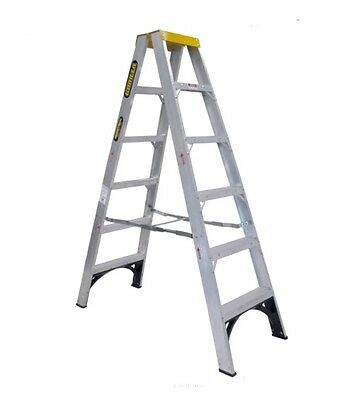GORILLA 2.4M/8FT 150kg Industrial Double sided A-frame step ladder aluminium
