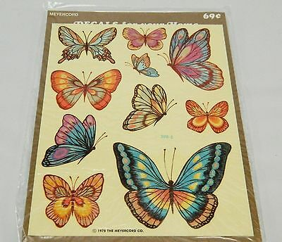 Vintage Meyercord Butterfly Decals, Water Slips, 1970s, Crafts, Stickers