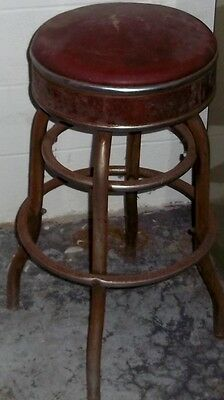 Old Shop Stool Industrial Chair Barstool Swivel From International Harvester ?