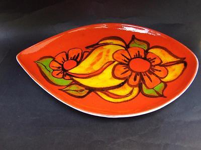Vintage Poole Pottery Delphis  Plate Signed 1970's