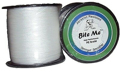 Braid Fishing Line 20LB - 500m Bite Me™ 4 Strand PE Braided White Jigging Tackle