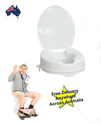"Raised Toilet Seat  4"" 100mm With Lid. While stock lasts!!"