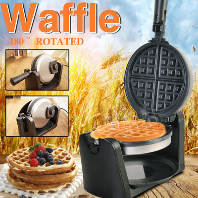 HUAYU Stainless Waffle Maker 1000W Non-stick Plate With Temperature Controller