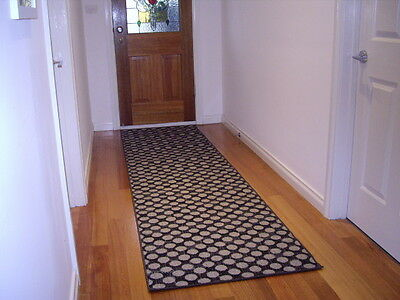 Modern Hall Runner Rug 300cm Long Premium Quality FREE DELIVERY Black Grey