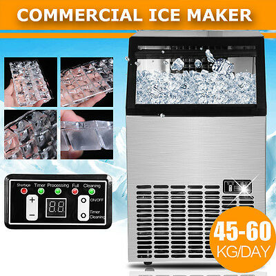 ICE Cube Maker Commercial Ice Maker Portable Machine Cafe Bar home 45~60KG/Day