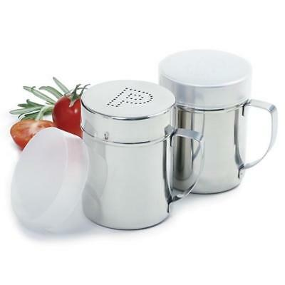 Norpro Stainless Steel Salt & Pepper Shakers Set One Cup #763