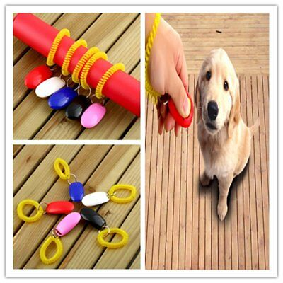 Dog&Cat Pet Click Clicker Training Obedience Agility Trainer Aid Wrist Strap GK