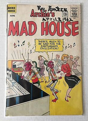 1962 Archie's Mad House Comic Book #19 Aliens Soda Shop Horror Silver Age VG