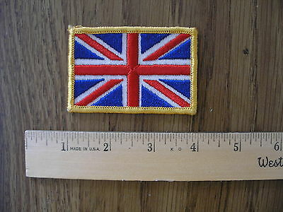 """COOL Vintage sew on Patch UnionJack """"Flag""""' Yellow  NEW  from 1970's 7P-12"""