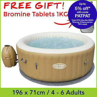 Bestway Lay Z Spa Palm Springs AirJet, Inflatable Portable Outdoor Spa Hot Tub