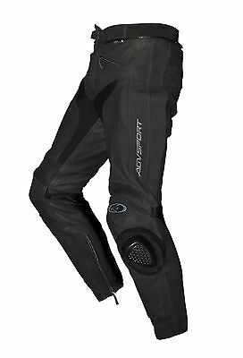 New AGVSPORT Willow Leather Perforated Motorcycle Pants CE Armour Knee Sliders