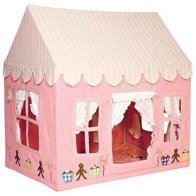 Pink Gingerbread Cottage Children's Playhouse / Play Tent by Win Green *Girl