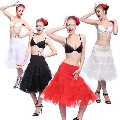 "25/27"" Retro Underskirt 50s Swing Vintage Petticoat Rockabilly Tutu Fancy Skirt"