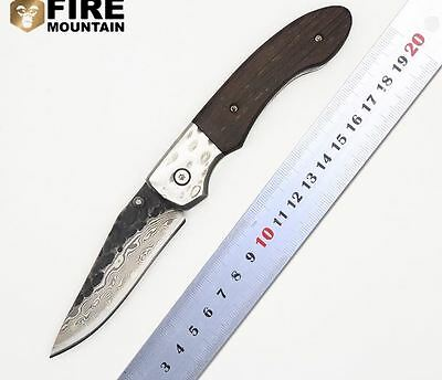 Outdoor Tactical Camping Knife Custom Forged Steel Folding Blade Pocket Knife