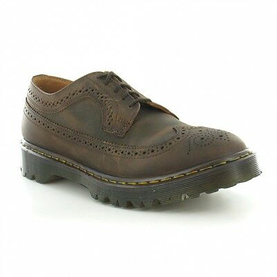 Dr Martens 3989 Mens Leather Country Brogue Shoes Gaucho Brown