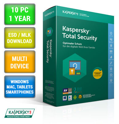 Kaspersky Total Security 2017 Multi-Device 10 PC 1 Jahr ESD