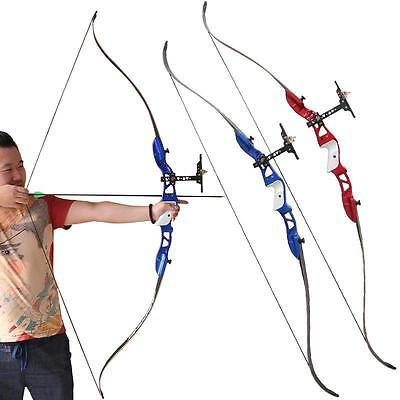 """New Archery Take Down Recurve Bow Alloy Riser 66"""" Longbow Hunting Shooting Games"""