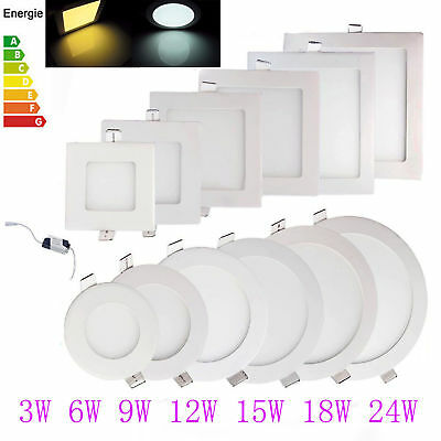 10pack 20pack 3W-24W LED Recessed Ceiling Panel Down Light Kitchen Ultra Thin US