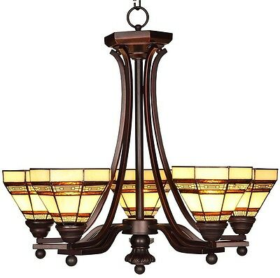 Addison 5-Light Oil Rubbed Bronze Chandelier Lamp Antique French Vintage Crystal