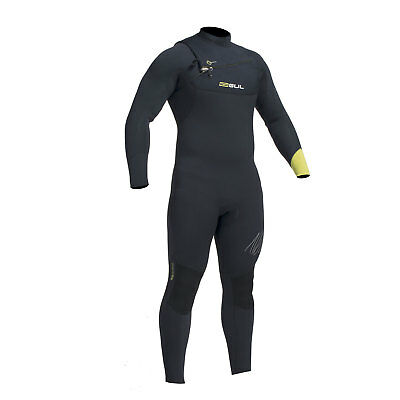 Gul RESPONSE 5/4mm Chest Zip Blindstitch Wetsuit 2017 - Black/Lime