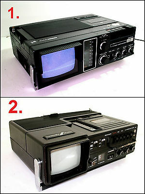 Assorted RANK ARENA & HANIMEX TV Radio Cassette Boombox