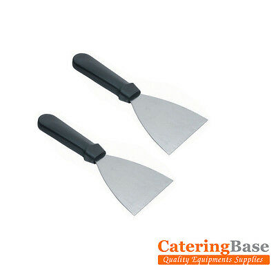 2 x Professional Strong Stainless Steel Grease Griddle Scraper Blade Utensil