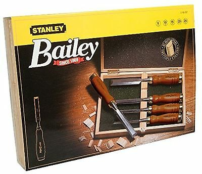 Stanley Bailey 2-16-217 Bevelled-Edge Chisel Set 5 Pieces 6.12 15.20 25 mm