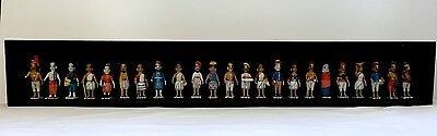"""Antique/Vintage Indian Hand Carved Painted Wooden 23 Characters Figurines 30"""""""