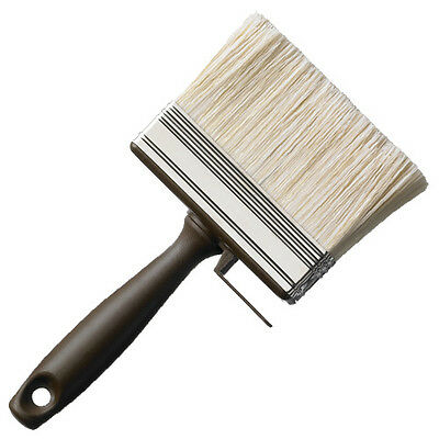 """2 x LARGE 120mm/4.5"""" WIDE WALL FENCE PAINT BRUSH Wall Ceiling Emulsion Stain OTL"""