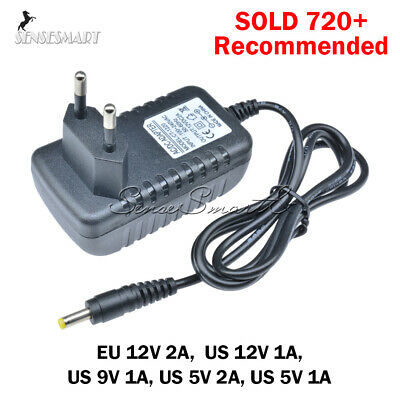 EU/US Plug AC 100-240V to DC12V 9V 5V 1A 2A Power Supply Converter LED Light ST