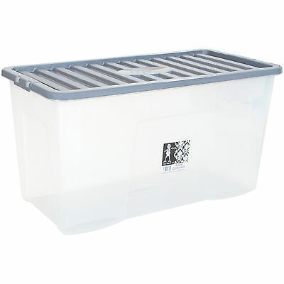 Large Plastic Storage Underbed Box Strong Tough Stackable Container 110L