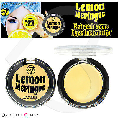 W7 Lemon Meringue Anti Redness Eyelid Primer 2g Eye Shadow Base