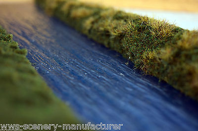 "MODEL RAILWAY SCENERY PLASTIC WATER SHEET LAKE RIVER 7"" x 42"""