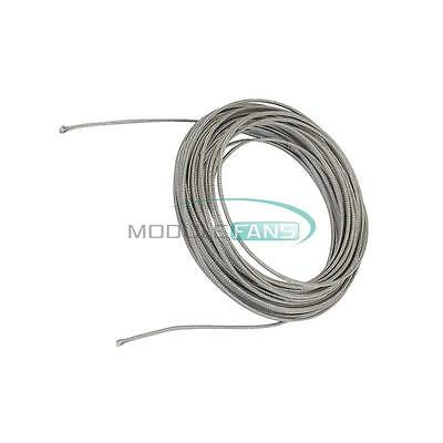 10M Silver Tone Metal K Type Thermocouple Extension Wire MF