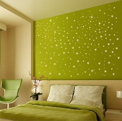 Wall Vinyl / FALLING STARS / Removable Gold Decals / DIY family art project