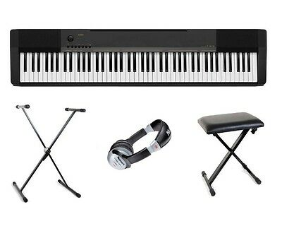 Casio CDP-130 Digital Electric Piano Package X-Stand,X Bench & Headphones