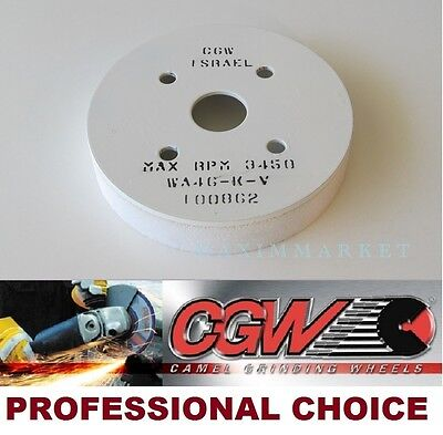 """CGW Plate Mounted Grinding Wheel- Size: 6""""x 1""""x 4"""" Grit: 46-K, White AO"""