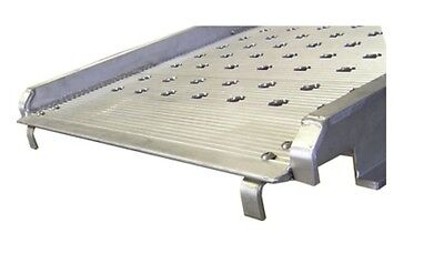 """7 Feet Long Aluminum Punched Traction Hook End Walk Ramp 38"""" Wide 1800# Capacity"""
