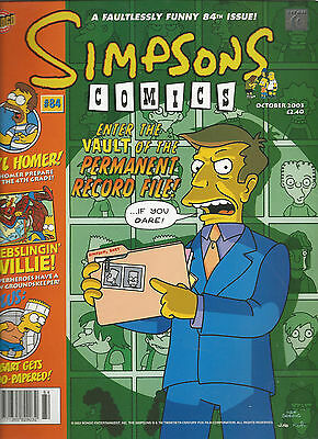 Simpsons Comics Oct 2003  84Th Issue