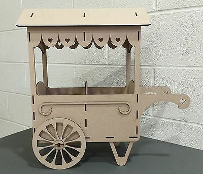 Y68 Sweet Cart Wedding Party Birthday Unpainted MDF Table Display Stand Mr & Mrs