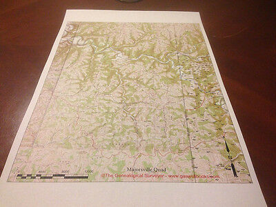 Oil & Gas Well Location Map Majorsville Quad Greene County, Pa Marcellus Shale