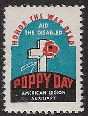 USA Poster Stamp: 1940s American Legion Auxiliary Poppy Day (dw431)