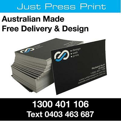 500 Business Cards THICK 350gsm Full Colour 2 Sides FREE design Aust Made