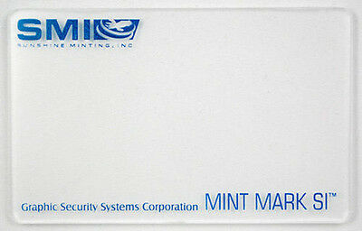 Sunshine Minting SMI Silver & Gold Bullion Security Mint Mark Decoder Lens Card