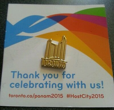 2015 Toronto Pan Am Games  THANK YOU for celebrating with us pin