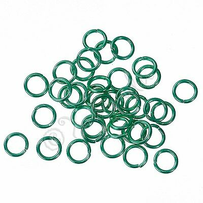 Mint Green Jump Rings 6mm - 50/100/200 Wholesale Findings For Jewelry Making