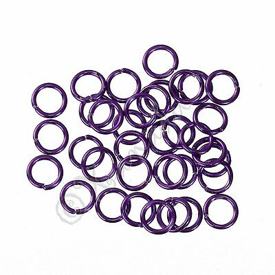 Purple Jump Rings 6mm - 50/100/200 Wholesale Findings For Jewelry Making F1271