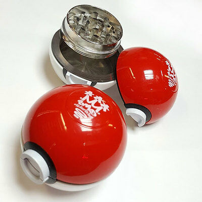 SMOKAMON Pokeball Pokemon Herb Grinder from SMO-KING - 3 Part 55mm
